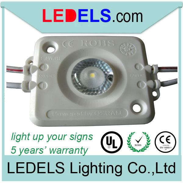 led sign lighting fixtures12V 1.6W high power injection led module for lightbox and display cabinet from china factory