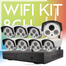 Vitevison CCTV system optional 1mp 1.3mp wifi camera H.264 8ch wireless wifi NVR Kit