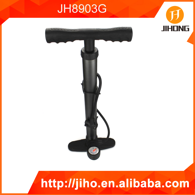 bicycle hand held car air pump with guage