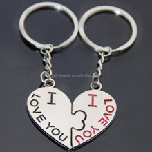 cheap broken heart keychain for 2015 promotion and souvenir