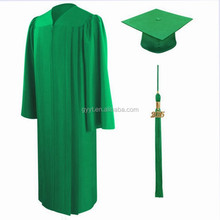 Factury Direct supply good quality Graduation outfits /graduation gown and cap college green