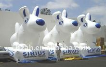 husky dog christmas inflatable dog for sale