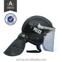 anti riot police helmet with shield