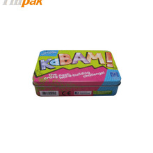 Hong Kong sweetie lovely tin box for eraser manufacture