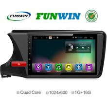 Funwin New Android 4.4.4 Up To 4.4.2 Car Dvd For Honda City Mcu 1.6g 4 core 3g Gps Wifi OBDii