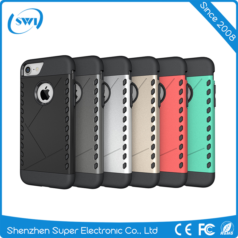 Alibaba Express Hard Armor Shockproof Rugged Strong Protective 2 in 1 PC TPU Case Cover for iPhone 7