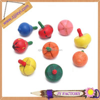 Promotional interesting old toys spinning-top fruit shape peg-top spinning top