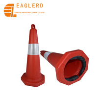 75cm sand filled PE road cone