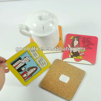 set of 4 cork coasters(guangzhou factory)