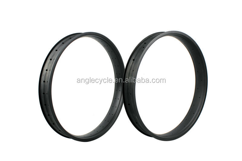 "Cheap bicycle part 26er 80mm carbon fat bike rim tubuless 26'' Clincher High quality 190/197mm 2014 fat bike 26"" fat tire"