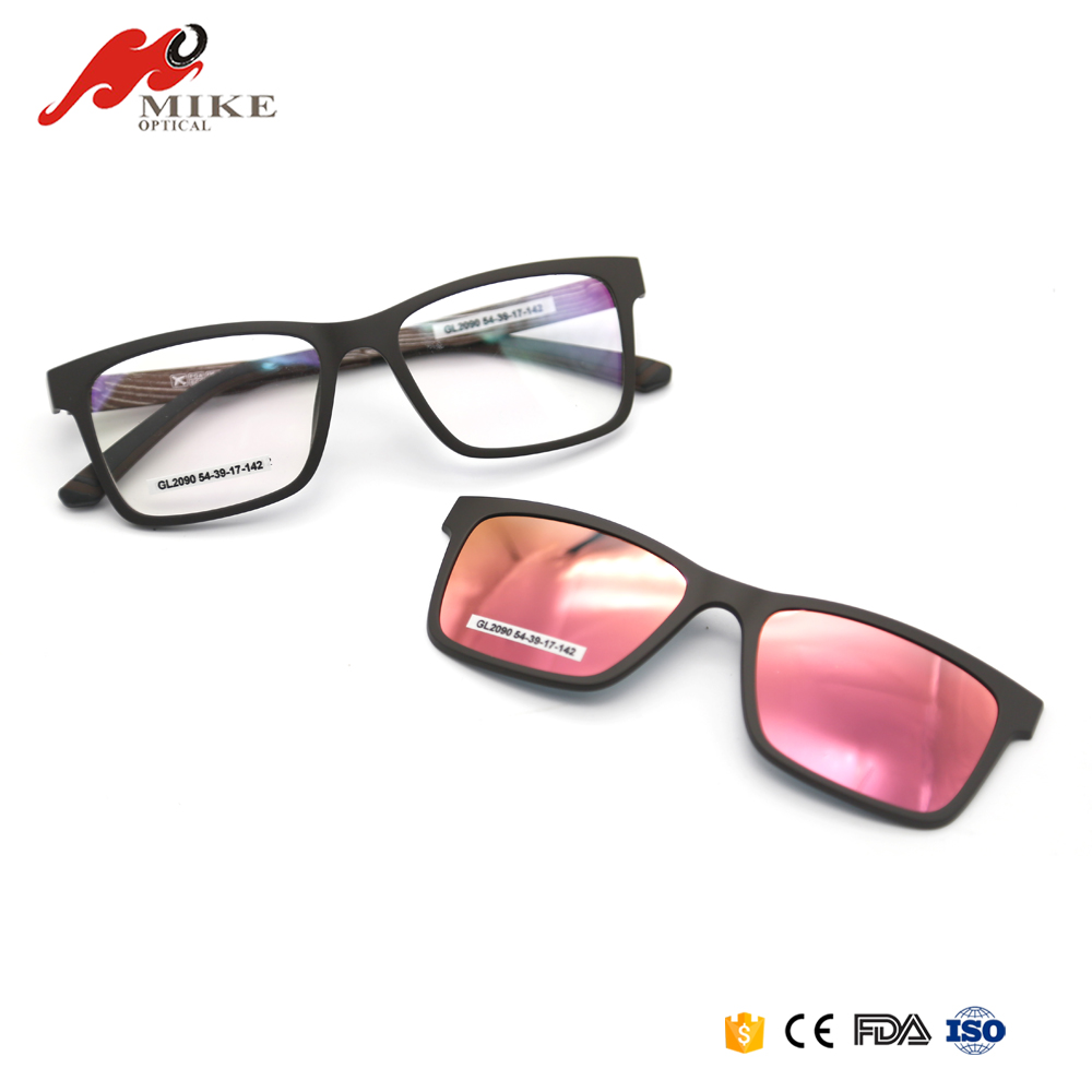 2017 New Arrival Fashion Polarized Clear Clip On Mens Sunglasses For Wholesale