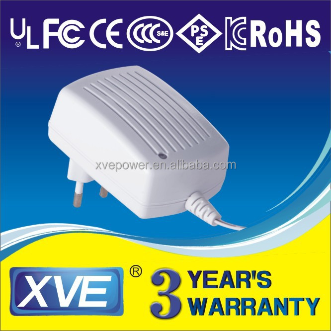 plug charger 17v 1a with UL/CUL GS CE SAA FCC approved (3 years warranty)
