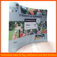 Pop up Backdrop Stretch Curved Banner Stand trade shows displays