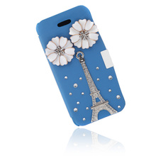 Big Sales Muiti-Color Flip Leather Bling Flower Case Cover PU Leather for iPhone 5 5s Protect surface against abrasion Damage