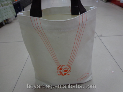 100% cotton customized logo blank shopping canvas bucket bag