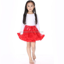 Wholesale Kids Girls Tutu Skirts Red Fluffy Ruffle Pettiskirts Baby Girls Ballet Dress Design