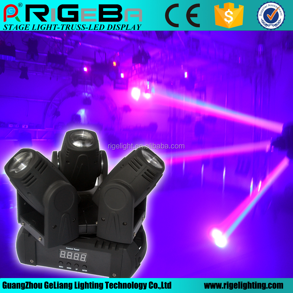 Stage lighting three head 60W 4-in-1 led beam moving head light professional show lighting