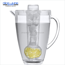 Pitcher 2-in-1 with Fruit Infuser and Ice Rod Iced Fruit Infusion Pitcher with Filter