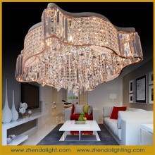 Smart star shaped gold Led Crystal Ceiling Light & ceiling chandelier