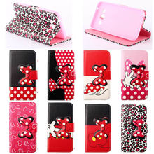 Cute case cover for samsung galaxy e5, flip cover bag for samsung e5