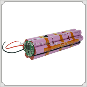 3S7P 11.1V 18.2Ah Li-ion battery pack for dive lighting