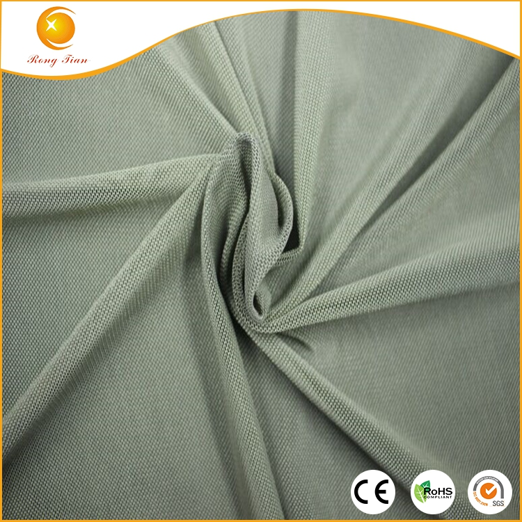 50 polyester 50 spandex stretch mesh fabric for dress