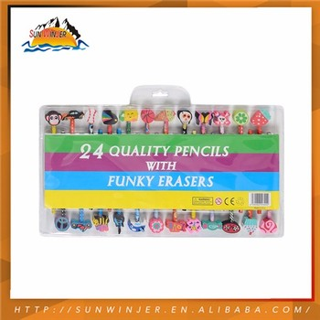 High End Non Wooden Pencils pencil eraser top eraser rubber