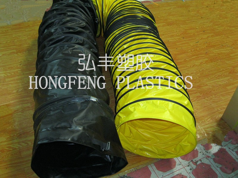 fire-resistant and explosion-proof PVC ventilation duct for tunnel, shipbuilding