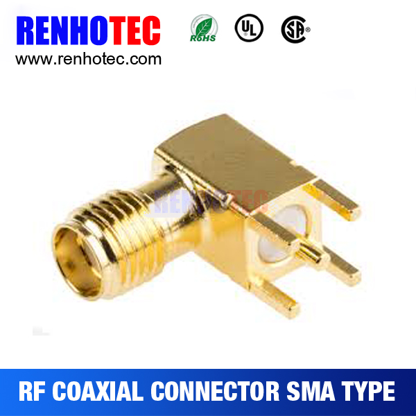 antenna amplifier for car radio sma jack right angle solder pcb connector
