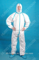 Economic disposable Type 6 coverall, soft and comfortable protective products with CE and FDA certificate