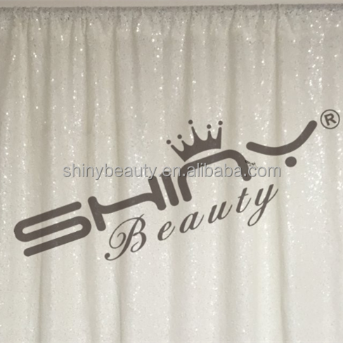White Sequin Backdrop,Customed Wedding Fabric Backdrops/Curtain For Photography On Sale