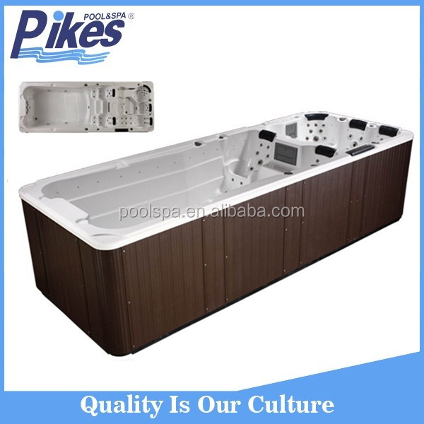 Factory price acrylic spa whirlpool hot tub square above ground pool