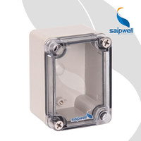 CE Small Outdoor Electric Box Transparent/Clear Lid/Cover Plastic Electrical Distribution Box