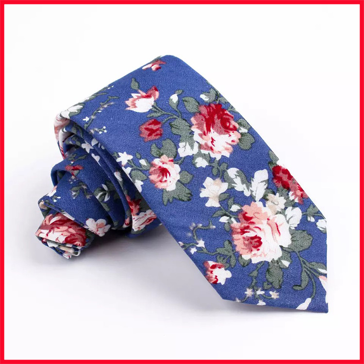 Fashion Ready Made 100% Cotton Floral Neck Ties