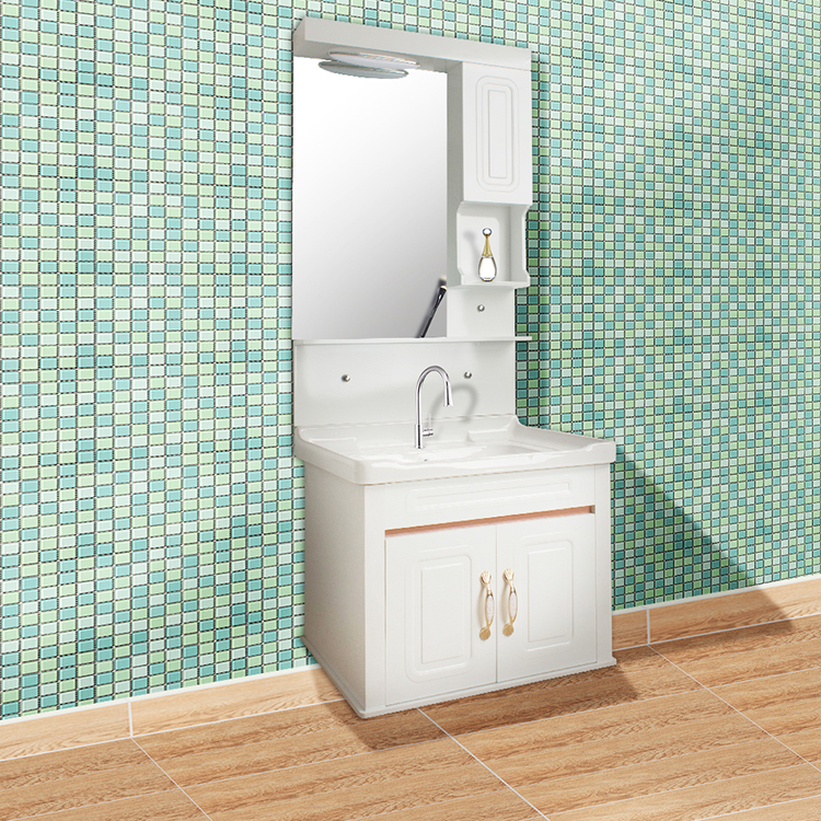 GUCI french design with gold hardware natural/common bathroom vanity cabinet
