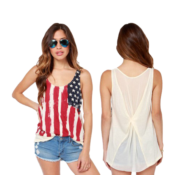 Fashion 95% cotton 5% spandes wide strap tank top(YCT-C0462)