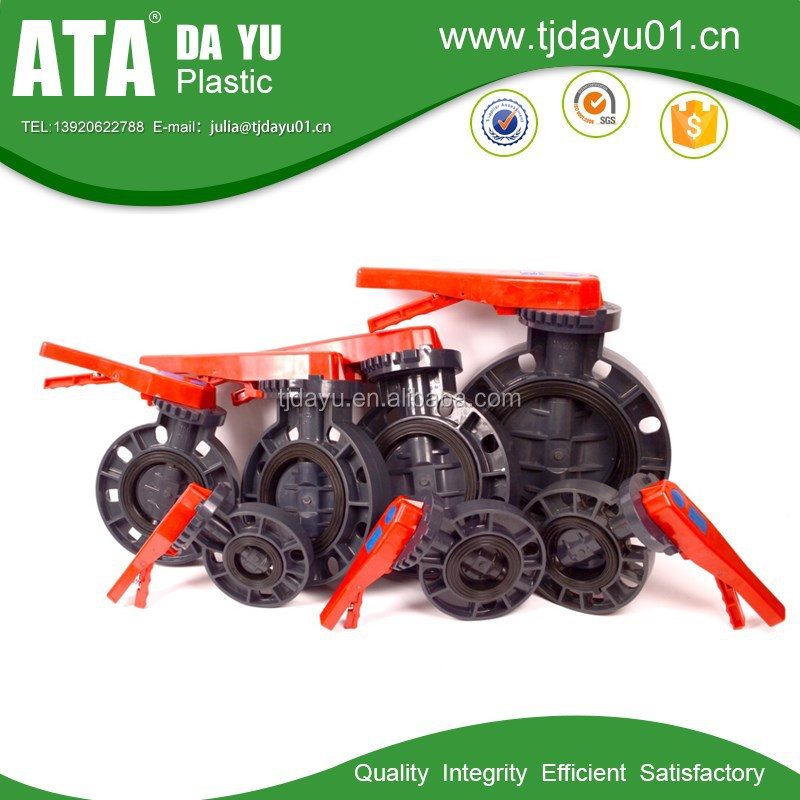 High Demand Products PVC Plastic Butterfly Valves With Worm Gear Type