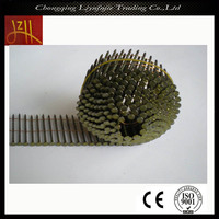 golden 15 degree coil nail concrete nail made in chongqing