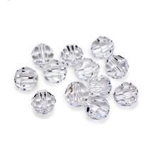 32 faceted Round Crystal Beads for Chandelier, Jewelry Making and Christmas Decoration