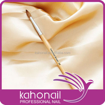 Nail art Kolinsky hair wooden handle acrylic brush
