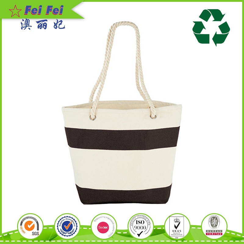 Fashion Style Organic Recyclable canvas tote bag for shopping manufacturer
