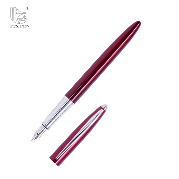 Hot selling personalized luxury metal fountain pen with custom logo for student