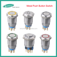 Low voltage 12Volt 24V 220v AC DC Metal Push Button Micro Switch 12 16 19 22 25mm Press Button Made In China