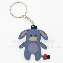 China supplier 3D soft rubber silicone eva key chain animals key ring key holder OEM accepted