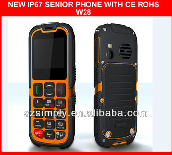 IP67 waterproof outdoor dual sim mobile phone with SOS button .GPRS