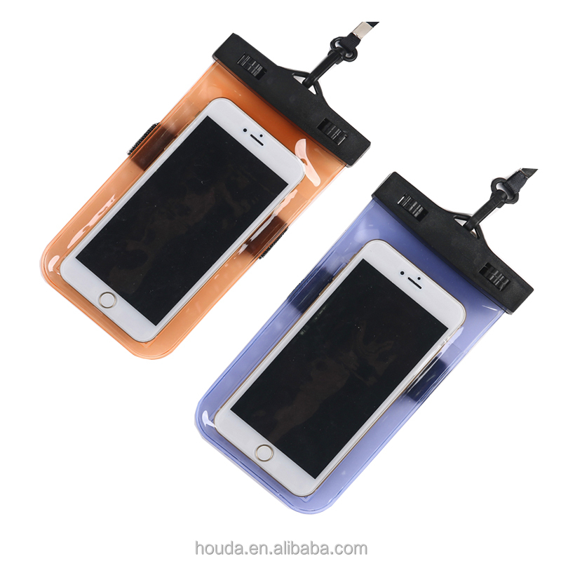 High quality Dry Bag Waterproof Phone Bags for 6s 7 Case for Swimming and Diving