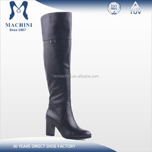 Comfort thick heel genuine leather over the knee boots for women