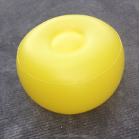 custom plastic round inflatable ottoman footstool