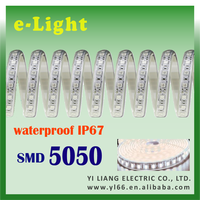 Cold White IP67 SMD5050 12V led light strip waterproof for office