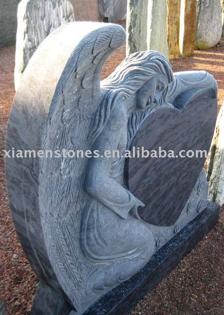 china stone tombstone angel style